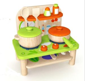 New Fashion Cute Wooden Doll Kitchen Toy for Kids and Children pictures & photos