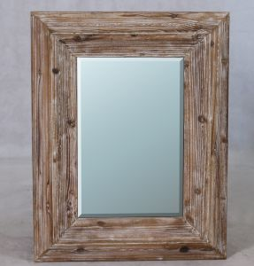 Beveled Wall Mirror Frame in Natural Timber Finish pictures & photos