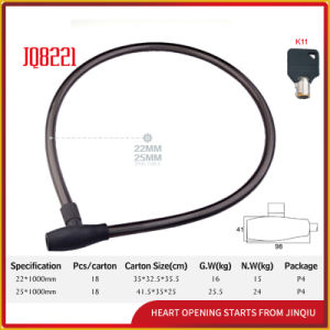 Jq8221 Black Color High Quality Bicycle Lock Motorcycle Steel Cable Lock pictures & photos
