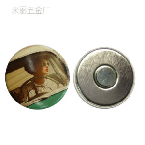 Cute Mini Metal Magnetic Sticker for Fridge / Round Tin Magnet pictures & photos