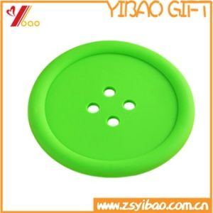 China Factory Customized Eco-Friendly Button Style Silicone Cup Mat pictures & photos