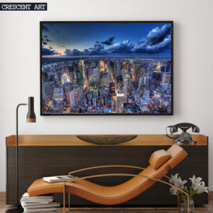 Beautiful Big City Night Overlooking View Canvas Print pictures & photos