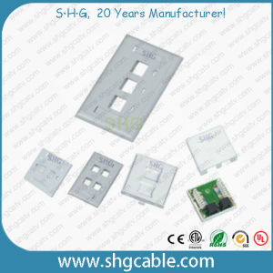 86 Type 4 Port Network Wallplate Faceplate with Shutter pictures & photos
