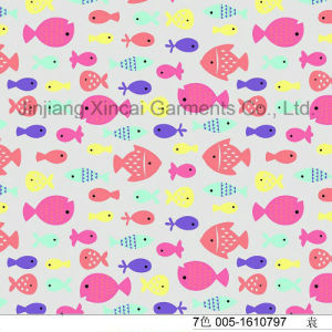 Lovely Fishes Printing for Girls Swimwear 80%Nylon 20%Spandex Fabric pictures & photos