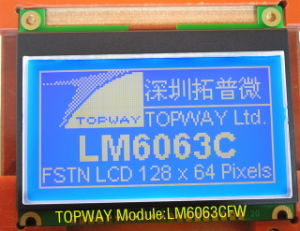 128X64 Graphic LCD Module Cog Type LCD Display (LM6063) Ultra High Contrast pictures & photos