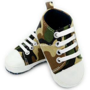 Soft Canvas Toddler and Infant Shoes for Baby Boys Girls pictures & photos