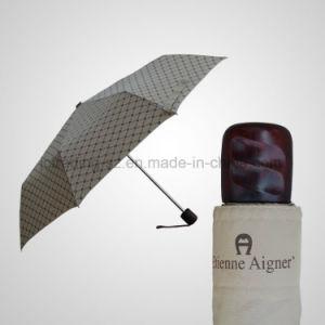 Manual Umbrella 3 Folding Umbrella Gilf Rain/Sun Umbrella (JF-MAG302) pictures & photos