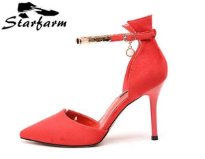 Red Color Sexy Lady High Heel Women Shoes