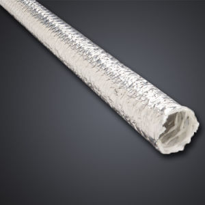 Convoluted Radiant Heat Reflective Aluminized Pet Film Coated Fiberglass Sleeve pictures & photos