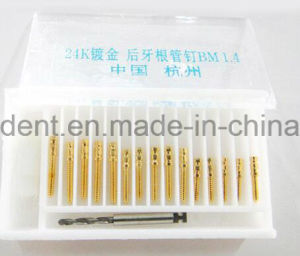Dental Golden Plated Screw Post with Drills pictures & photos