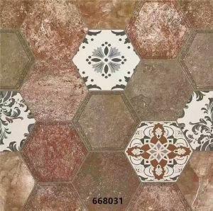 Hexagonal Ceramic Floor Tile of Rustic Tile for Ukraine Market pictures & photos