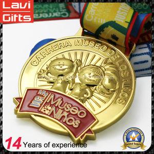 China Manufacturer Cheap Custom Zinc Alloy Enamel Marathon Running Award Metal Sport Gold Souvenir Medal No Minimum Order pictures & photos