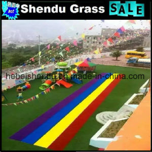 Rainbow Kindergarten Synthetic Grass with Anti-UV Material pictures & photos