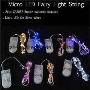 Cr2032 Battery Holder with Battery Operated Lights LED String Lights pictures & photos