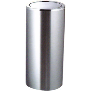 Popular Black Powder Coat Trash Can for Hotel Lobby Use pictures & photos