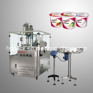 Rotary Filling and Sealing Machine Plastic Round Cup pictures & photos