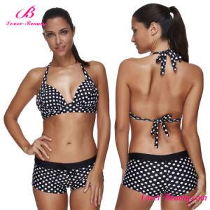 Black Polka Plus Size Sexy Mature Bikini Swimwear