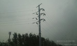 35kv Four-Pipe Steel Pole, Transmission Pole pictures & photos