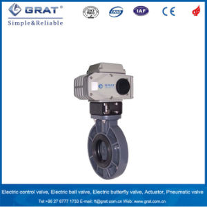 Electric Quick Open and Close UPVC Butterfly Valve pictures & photos