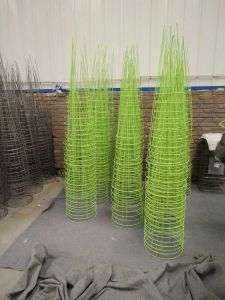 Galvanized Steel Wire Round Tomato Cage Factory pictures & photos
