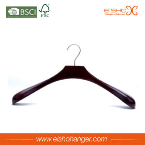 Custom Smooth Finished Body Wood Coat Hanger for Wholesale pictures & photos