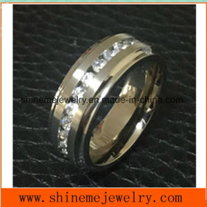 Shineme Jewelry High Quality 30PCS Stones Titanium Ring (TR1869) pictures & photos