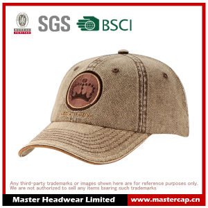 Soft Panel Flat Embroidery Snow Wash Baseball Cap