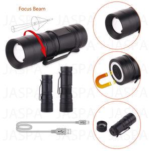 Rechargeable Mini Aluminum 3W LED Flashlight (16-1S1705) pictures & photos