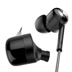 in-Ear Microphone Black Stereo Sound in Line Control Wired Earphones pictures & photos