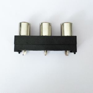 AV Socket with The Core Lotus Single-Hole RCA Socket Audio and Video Terminals AV3-8.4-21 pictures & photos