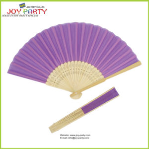 Light Purple Silk Hand Fan for Love pictures & photos