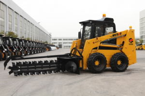 Ws75 Skid Steer Loader Capacity 950kgs with Trencher Mini Skid Steer with Skid Steer Attachment