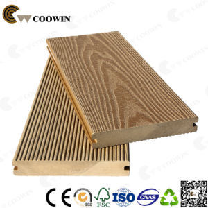 Outdoor WPC Solid 3D Embossed Wood Plastic Composite Decking