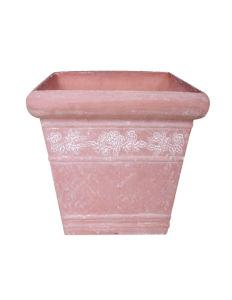 Rose Sculptured Recycled Plastic Flower Pot/Garden Planter (10EDS30)