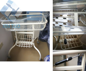 Factory Direct Price Hospital Reclining Baby Bassinet Trolley pictures & photos
