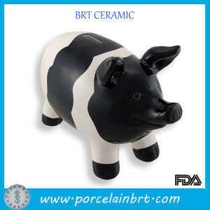 Gift for Kid Cute White and Black Piggy Bank pictures & photos