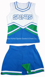 2016 New Cheerleading Uniforms: Shell Top and Pleats Skirt pictures & photos