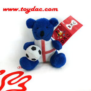 Plush Football Bear Key Ring pictures & photos