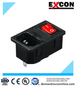 Electric Socket Excon S-03f-12s with Red Light Switch pictures & photos