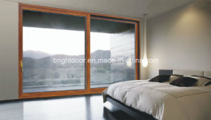 Energy Saving Double Glazing Aluminum Sliding Exterior Panel Door pictures & photos