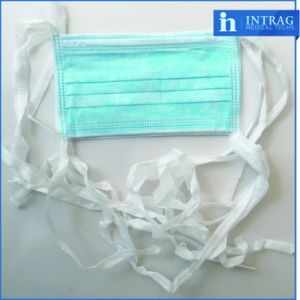 Non-Woven Surgical Face Mask Tie on pictures & photos