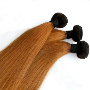Burmese Remy Hair Weaving Two Tone Human Hair Extension pictures & photos