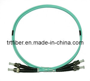 ST-ST/APC OM3 Fiber Optic Patch Cord, Optical Fiber Cable pictures & photos
