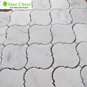 The Carrara White Marble lantern Marble Mosaic Tile for Bathroom pictures & photos
