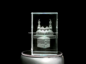 Kaaba Engraved in Crystal Cube for Muslim pictures & photos