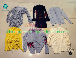 Ladies Cardigan Sweater Used Clothes Hot Sale in USA for Sale pictures & photos