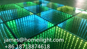 RGB Full Color DMX Control LED Stage Light Party Disco Infinity Mirror 3D LED Dance Floor pictures & photos