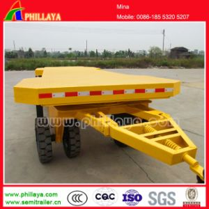 2 Axles 20FT Flatbed Draw Bar Full Tractor Dolly Trailer pictures & photos