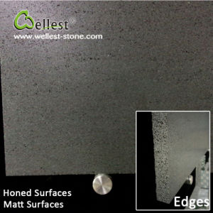 China Black Basalt Bluestone Honed/Matt Tile for Floor/Wall Cladding pictures & photos