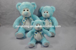 3 Asst Plush Sitting Bear with New Material pictures & photos